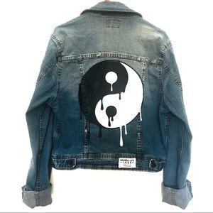 Ghanda Denim Jacket Vintage Wash Distressed